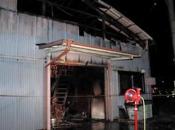 歯間ブラシの工場から出火 「一日でも早く再開したい」