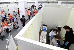 神戸市のコロナワクチン大規模接種、初日は554人 大きなトラブルなし