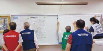 医療救護隊 日吉台中で立ち上げ訓練 北部参集拠点の移転後初 横浜市港北区