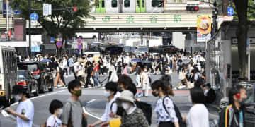 東京、2カ月連続人口流出 緊急事態宣言も影響か